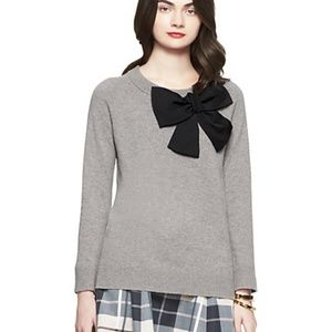 Kate Spade Wool Knit Bow Sweater Dormouse M